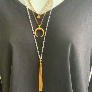 Henri Bandel 3 in 1 gold necklace